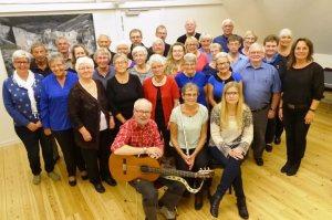 En øveaften med sangere fra Visens Venner og Nicolai Koret i anledning af uropførelsen af Peters Jul på Godset i Kolding søndag den 29. november 2015
