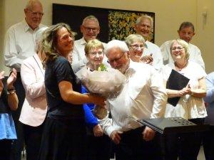 En glad dirigent efter en vellykket koncert på Nicolai Scene onsdag den 6. maj 2015